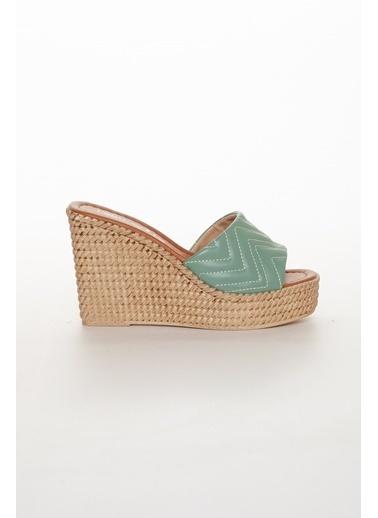 Dilimler Ayakkabı Terlik Yeşil